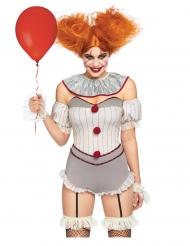 Déguisement luxe clownette tueuse sexy femme