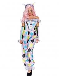 Déguisement luxe jolie clownette femme