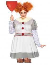 Déguisement luxe clownette terrifiante grande taille femme