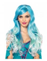Perruque luxe blue sirène femme