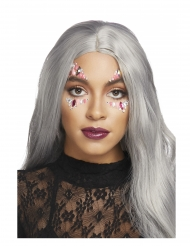 Bijoux pour visage adhésifs zinnia