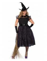 Déguisement luxe charmante sorcière grande taille femme