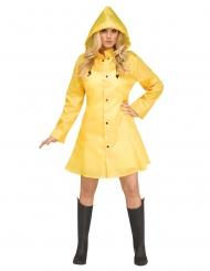 Déguisement imperméable jaune femme
