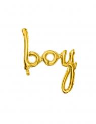 Ballon aluminium boy doré 63,5 x 74 cm