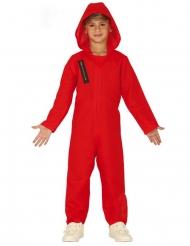 Déguisement combinaison rouge voleur enfant