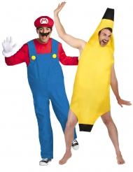 Déguisement de couple Mario™ et banane adulte