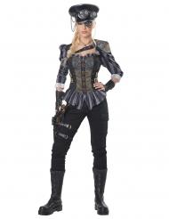 Déguisement capitaine steampunk femme