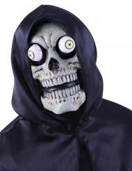 Masque squelette avec yeux exorbités adulte