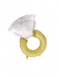 Ballon en aluminium bague de fiançailles 81 cm