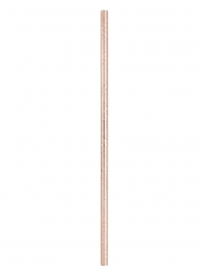10 Pailles en carton roses gold 21 cm