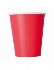 8 Gobelets en carton rouges 266 ml