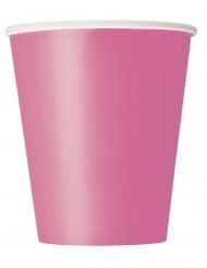 8 Gobelets en carton roses 266 ml