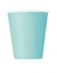 8 Gobelets en carton menthe 266 ml