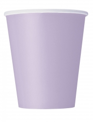 14 Gobelets en carton lavande 266 ml
