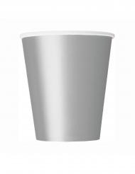 8 Gobelets en carton argentés 266 ml