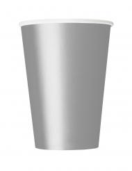 14 Gobelets en carton argentés 266 ml