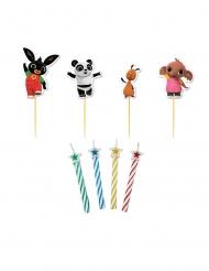 Kit 4 bougies et piques personnages Bing™ 6 cm