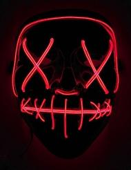 Masque led lumineux rouge adulte