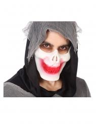 Demi masque squelette ensanglanté adulte