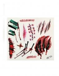 Faux tatouages blessures et griffures ensanglantées