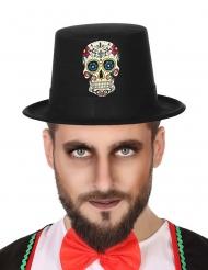 Chapeau dia de los muertos noir