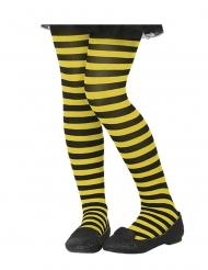 Collant rayé jaune et noir enfant