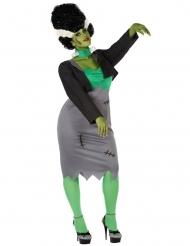 Déguisement monstre artificiel vert femme grande taille