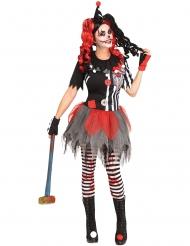Déguisement clown sinistre femme