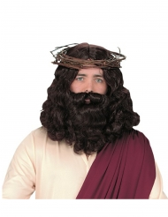 Perruque et barbe luxe Jésus adulte
