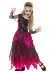Déguisement reine du bal gothique rose fille