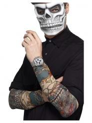2 Manchettes tatouage Dia de los Muertos