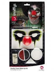 Kit maquillage clown meurtrier adulte