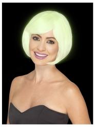 Perruque carré blanc phosphorescent femme