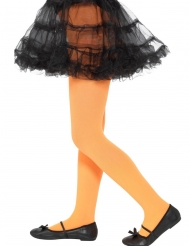Collants opaques orange enfant