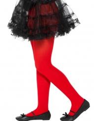 Collants opaques rouge enfant
