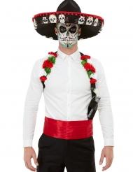 Kit accessoires et chapeau Dia de los muertos adulte