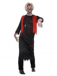 Déguisement prêtre zombie noir homme