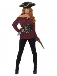 Chemise pirate bordeau luxe femme
