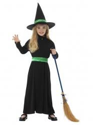 Déguisement petite sorcière verte fille