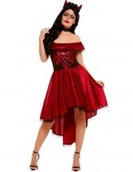 Déguisement danseuse rouge sexy Dia de los Muetos femme