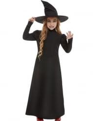 Déguisement basique sorcière noir fille