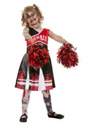 Déguisement Cheerleader zombifiée fille