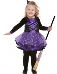 Déguisement jolie socière violette étoilée fille