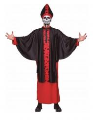 Déguisement évêque squelette adulte