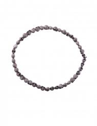 Collier têtes de mort grises 54 cm adulte