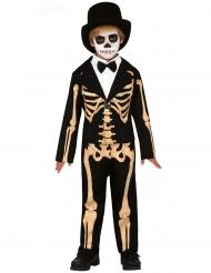 Déguisement squelette élégant garçon