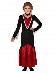 Déguisement vampire rouge et noir fille
