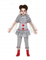 Déguisement clown assassin gris fille