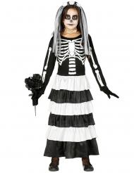 Déguisement jeune mariée squelette fille