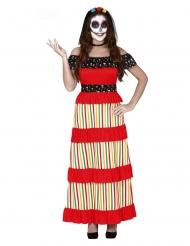 Déguisement mexicaine dia de los muertos femme
